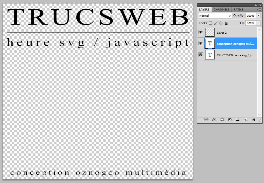 Photoshop - Nouveau texte