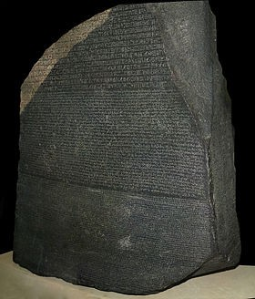 La pierre de RosetteBritish Museum, Londres