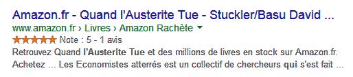 Résultat riche Google