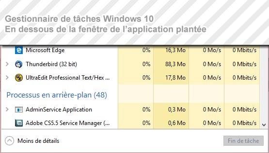 Erreur du gestionnaire de tâches - Windows 10