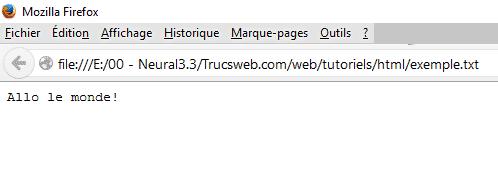 Firefox - Fichier texte