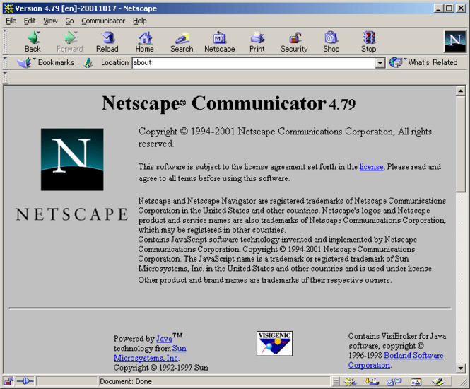 Netscape Communicator 4.7.