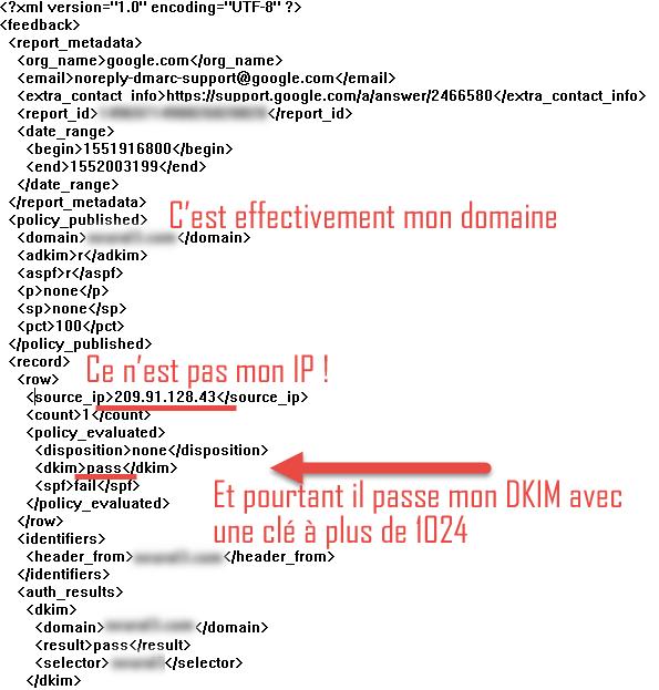 Exemple d'abus de clé DKIM à 1024 bits