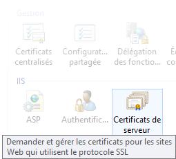 IIS7 - Renouveler un certificat SSL