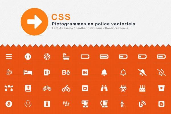 CSS - Pictogrammes en police vectoriels
