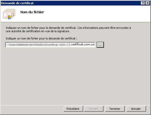 Renouveler un certificat SSL - Nom du fichier