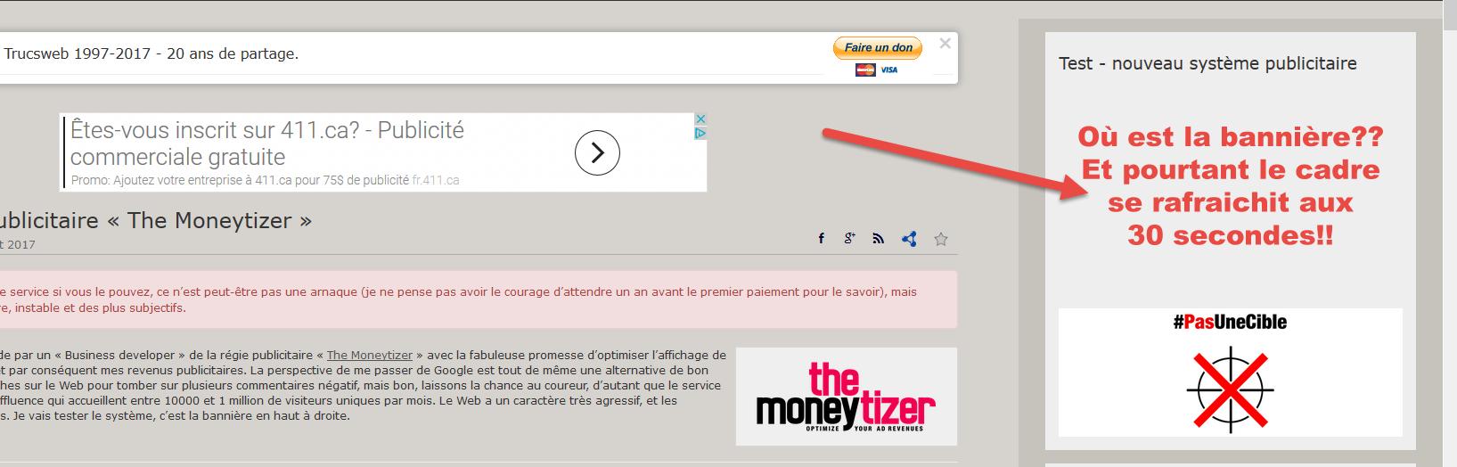 Format publicitaire - The Moneytizer erreur